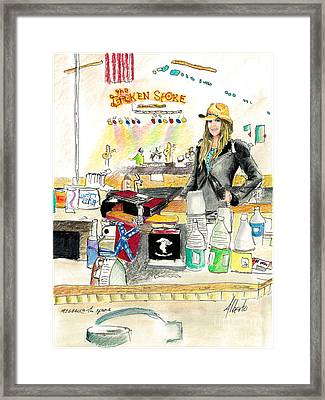 Meghan At The Broken Spoke Saloon Framed Print by Albert Puskaric