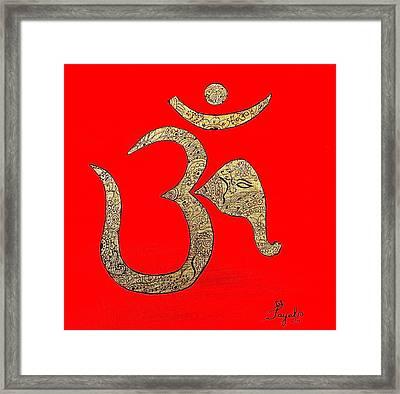 Mehndi Ganesh Ohm Framed Print