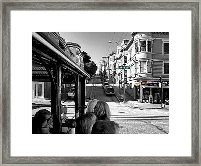 Mei Fung Grocery From Hyde St Cable Car - San Francisco Framed Print by Daniel Hagerman