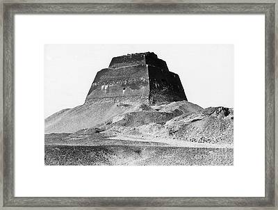 Meidum Pyramid, 1879 Framed Print by Science Source