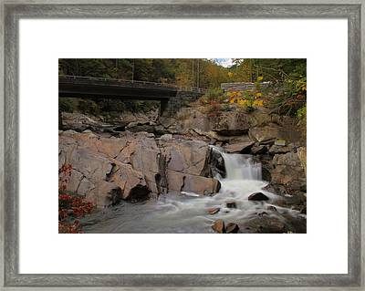 Meigs Falls In Autumn Framed Print by Dan Sproul