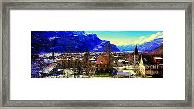 Meiringen Switzerland Alpine Village Framed Print
