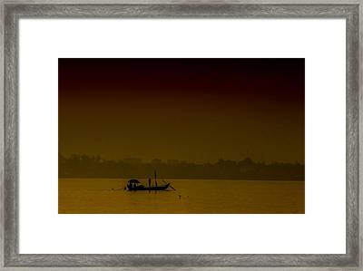 Mekong Morning Framed Print