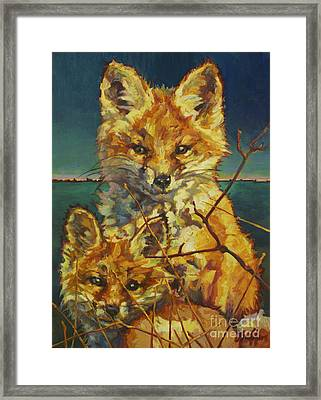 Mel And Todd Framed Print by Patricia A Griffin