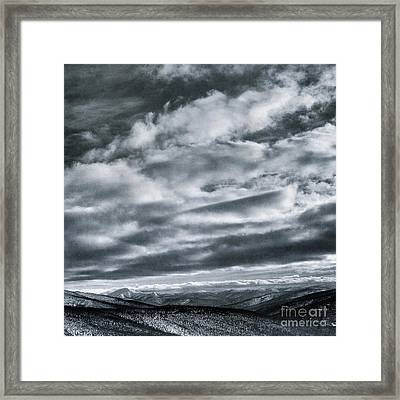 Melancholia Mountains And Even More Mountains Framed Print by Priska Wettstein