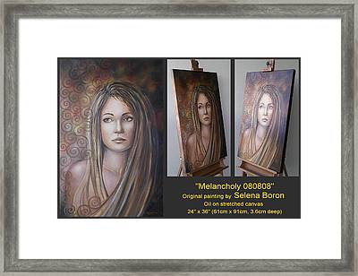 Melancholy 080808 Comp Framed Print by Selena Boron