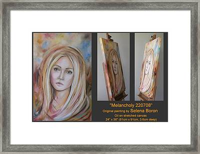 Framed Print featuring the painting Melancholy 220708 by Selena Boron