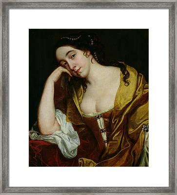 Melancholy Framed Print by Jacob van Loo