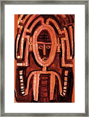 Melanesian Icon Framed Print by Anne-Elizabeth Whiteway