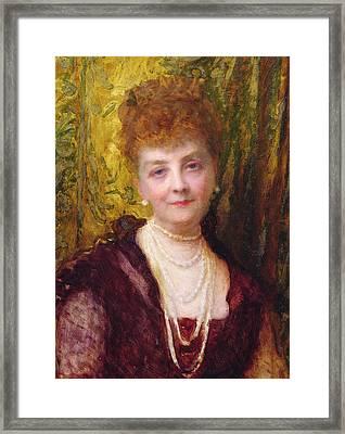 Melanie De Bussiere Framed Print by Antoine Auguste Ernest Herbert