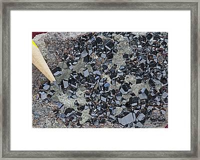 Melanite II Framed Print
