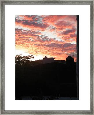 Framed Print featuring the photograph Melaque Sunset by Brian Boyle