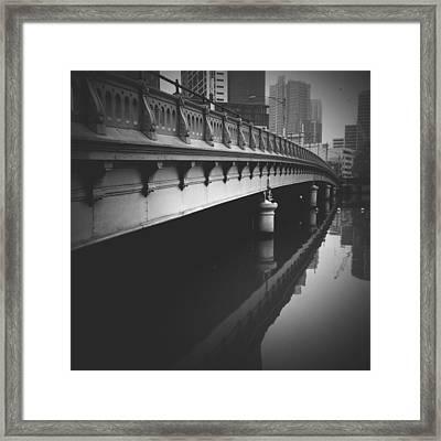 Melbourne Bridge Framed Print by Dan Kerr