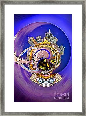 Melbourne City Skyline Circagraph 2 Framed Print by Az Jackson