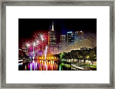 Melbourne Fireworks Spectacular Framed Print