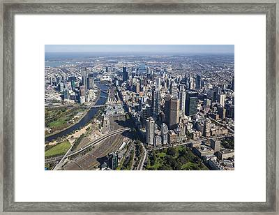 Melbourne From The South East Corner Framed Print