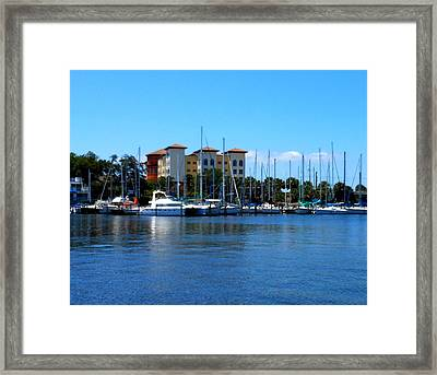 Framed Print featuring the photograph Melbourne Harbor by Kay Gilley