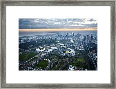 Melbourne Park, Melbourne Framed Print
