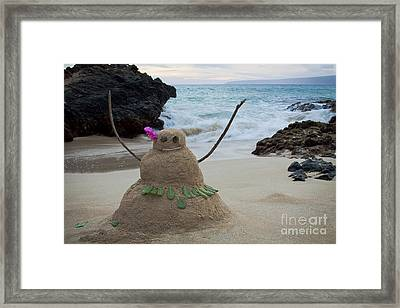Mele Kalikimaka Merry Christmas From Paako Beach Maui Hawaii Framed Print by Sharon Mau