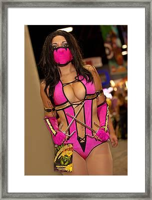 Meleena Of Mortal Combat Framed Print by Andreas Schneider