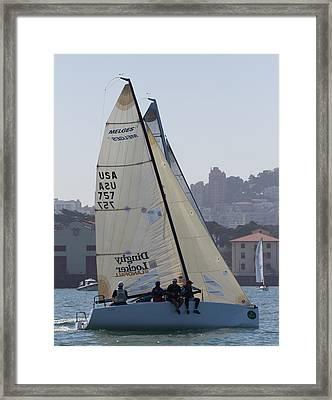 Melges 24 San Francisco Framed Print by Steven Lapkin