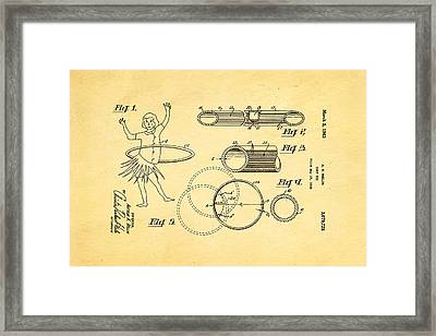 Melin Hula Hoop Patent Art 1963 Framed Print by Ian Monk