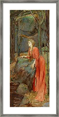 Melisande Framed Print by Henry Meynell Rheam