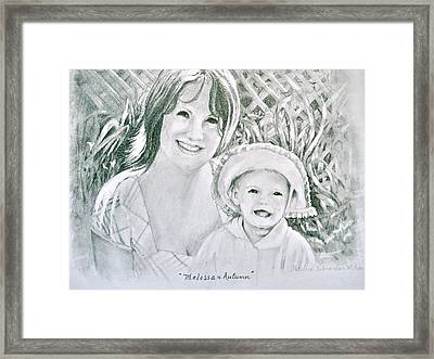 Framed Print featuring the painting Melissa And Autumn by Patricia Schneider Mitchell