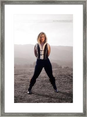Framed Print featuring the photograph Melissa Portrait 03 by Matt Hanson