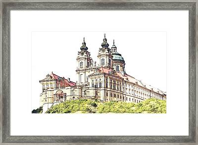 Melk Abbey In Lower Austria Framed Print