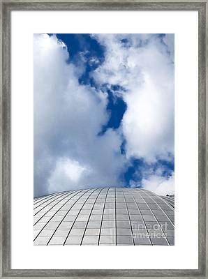Mellon Arena On A Cloudy Day Framed Print by Amy Cicconi