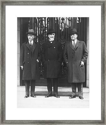 Mellon, Norman, And Meyer Framed Print by Underwood Archives