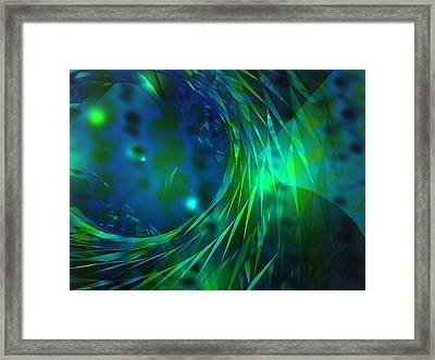Mellow Vortex Framed Print by Digital  Hiccup