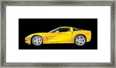 Mellow Yellow Corvette C 6 Framed Print