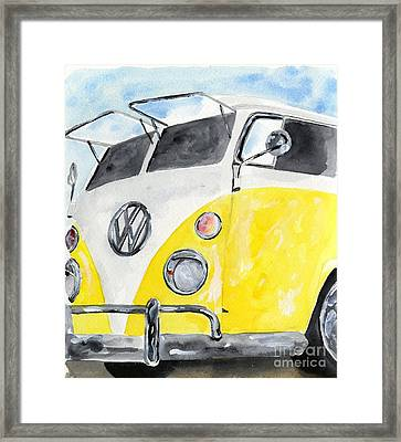 Mellow Yellow Surf Wagon Framed Print