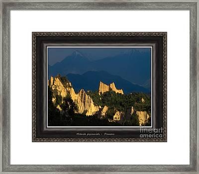 Melnik Pyramids Mp2 Framed Print by Pemaro