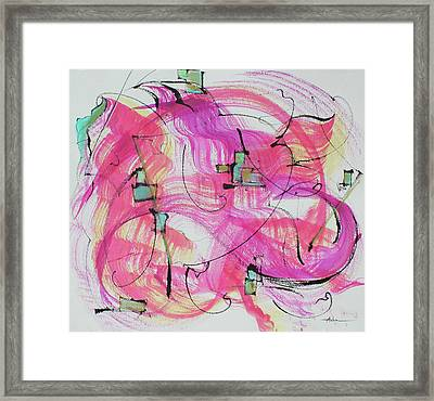 Melody In Magenta   Insight Comes Framed Print by Asha Carolyn Young