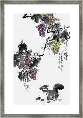 Framed Print featuring the painting Melody Of Life II by Yufeng Wang