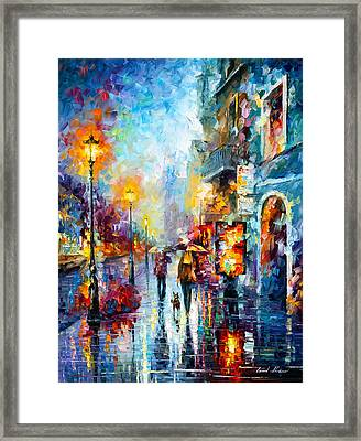 Melody Of Passion Framed Print by Leonid Afremov