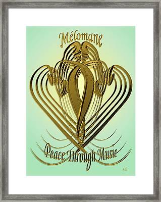 Melomane - Peace Through Music Framed Print