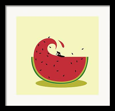 Watermelon Seed Framed Prints