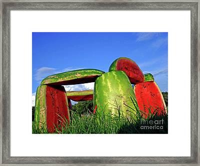Melonhenge Framed Print by Joe Jake Pratt