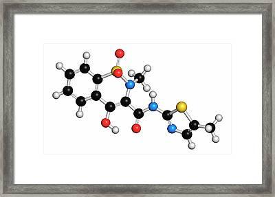 Meloxicam Nsaid Drug Molecule Framed Print