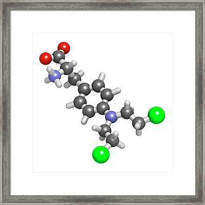 Melphalan Cancer Chemotherapy Drug Framed Print