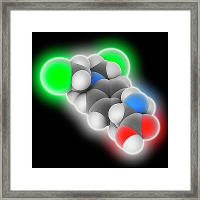 Melphalan Drug Molecule Framed Print