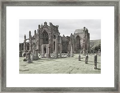Melrose Abbey Framed Print by Juergen Klust