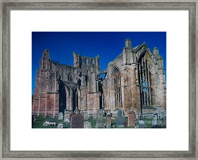 Melrose Abbey  Scotland Framed Print