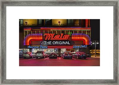 Mels Diner Framed Print by Gary Warnimont