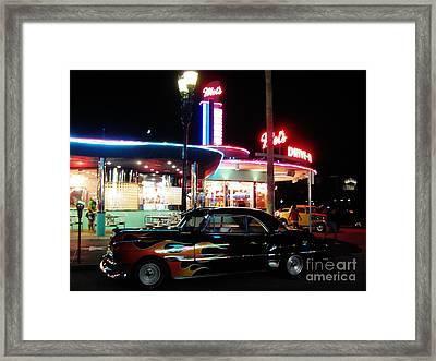 Mels Diner Number Three Framed Print by John Malone