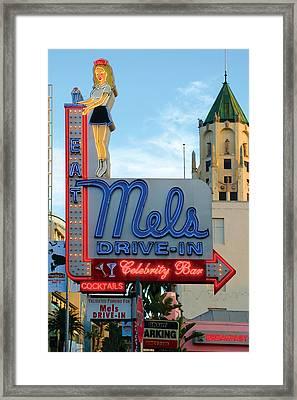 Mel's Drive In Framed Print by Bill Jonas